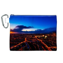The Hague Netherlands City Urban Canvas Cosmetic Bag (xl)