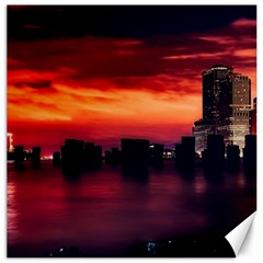 New York City Urban Skyline Harbor Canvas 20  X 20