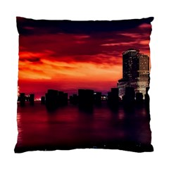 New York City Urban Skyline Harbor Standard Cushion Case (two Sides)