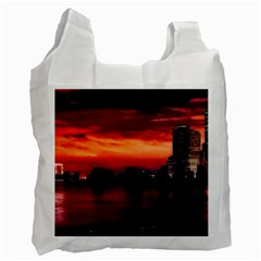 New York City Urban Skyline Harbor Recycle Bag (one Side)