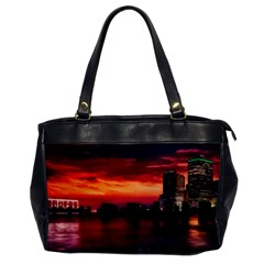New York City Urban Skyline Harbor Office Handbags