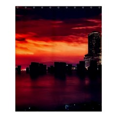 New York City Urban Skyline Harbor Shower Curtain 60  X 72  (medium)