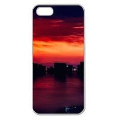 New York City Urban Skyline Harbor Apple Seamless Iphone 5 Case (clear)