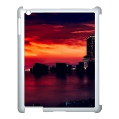 New York City Urban Skyline Harbor Apple Ipad 3/4 Case (white)