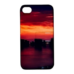 New York City Urban Skyline Harbor Apple Iphone 4/4s Hardshell Case With Stand