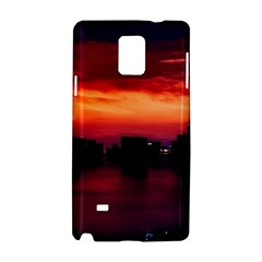 New York City Urban Skyline Harbor Samsung Galaxy Note 4 Hardshell Case