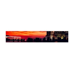 New York City Urban Skyline Harbor Flano Scarf (mini)
