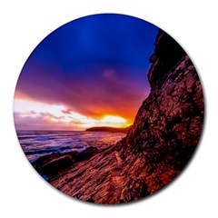 South Africa Sea Ocean Hdr Sky Round Mousepads
