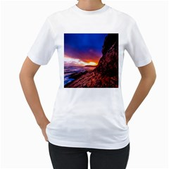 South Africa Sea Ocean Hdr Sky Women s T Shirt (white) (two Sided)