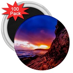 South Africa Sea Ocean Hdr Sky 3  Magnets (100 Pack)
