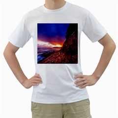 South Africa Sea Ocean Hdr Sky Men s T Shirt (white) (two Sided)