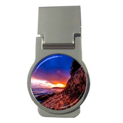 South Africa Sea Ocean Hdr Sky Money Clips (round)