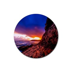 South Africa Sea Ocean Hdr Sky Rubber Round Coaster (4 Pack)