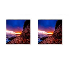 South Africa Sea Ocean Hdr Sky Cufflinks (square)