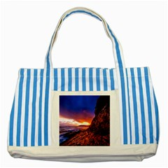 South Africa Sea Ocean Hdr Sky Striped Blue Tote Bag