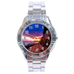 South Africa Sea Ocean Hdr Sky Stainless Steel Analogue Watch