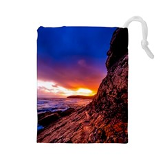 South Africa Sea Ocean Hdr Sky Drawstring Pouches (large)