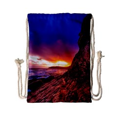 South Africa Sea Ocean Hdr Sky Drawstring Bag (small)