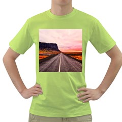 Iceland Sky Clouds Sunset Green T Shirt