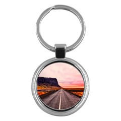 Iceland Sky Clouds Sunset Key Chains (round)