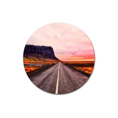 Iceland Sky Clouds Sunset Magnet 3  (round)