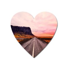 Iceland Sky Clouds Sunset Heart Magnet