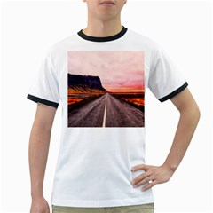 Iceland Sky Clouds Sunset Ringer T Shirts