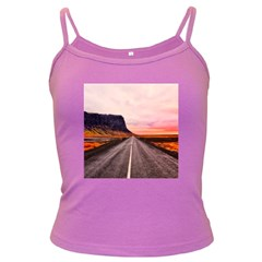 Iceland Sky Clouds Sunset Dark Spaghetti Tank