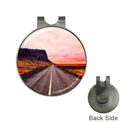 Iceland Sky Clouds Sunset Hat Clips With Golf Markers