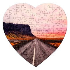 Iceland Sky Clouds Sunset Jigsaw Puzzle (heart)