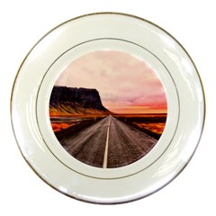 Iceland Sky Clouds Sunset Porcelain Plates