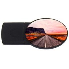 Iceland Sky Clouds Sunset Usb Flash Drive Oval (4 Gb)