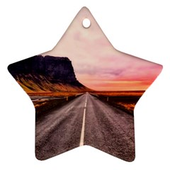 Iceland Sky Clouds Sunset Star Ornament (two Sides)