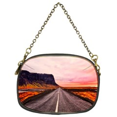 Iceland Sky Clouds Sunset Chain Purses (one Side)