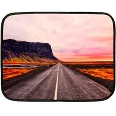 Iceland Sky Clouds Sunset Double Sided Fleece Blanket (mini)