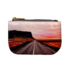 Iceland Sky Clouds Sunset Mini Coin Purses