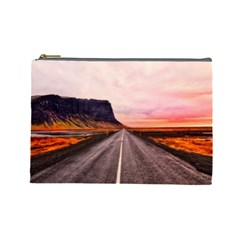 Iceland Sky Clouds Sunset Cosmetic Bag (large)