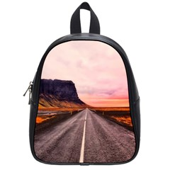 Iceland Sky Clouds Sunset School Bag (small)