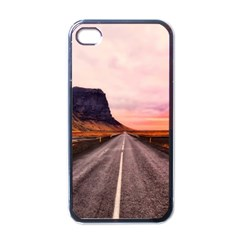 Iceland Sky Clouds Sunset Apple Iphone 4 Case (black)