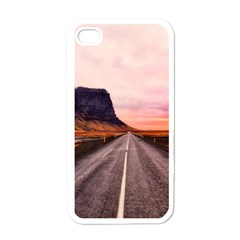 Iceland Sky Clouds Sunset Apple Iphone 4 Case (white)