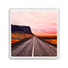 Iceland Sky Clouds Sunset Memory Card Reader (square)