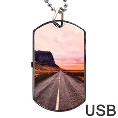 Iceland Sky Clouds Sunset Dog Tag Usb Flash (two Sides)