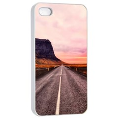 Iceland Sky Clouds Sunset Apple Iphone 4/4s Seamless Case (white)
