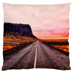 Iceland Sky Clouds Sunset Large Cushion Case (one Side)