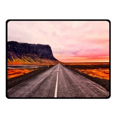 Iceland Sky Clouds Sunset Double Sided Fleece Blanket (small)