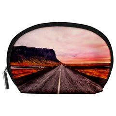 Iceland Sky Clouds Sunset Accessory Pouches (large)