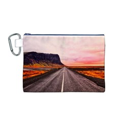 Iceland Sky Clouds Sunset Canvas Cosmetic Bag (m)
