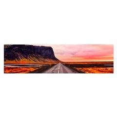 Iceland Sky Clouds Sunset Satin Scarf (oblong)