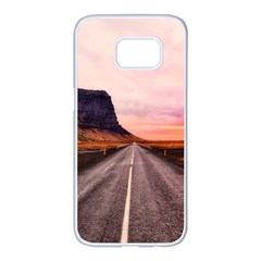 Iceland Sky Clouds Sunset Samsung Galaxy S7 Edge White Seamless Case