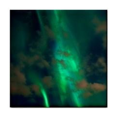 Northern Lights Plasma Sky Tile Coasters